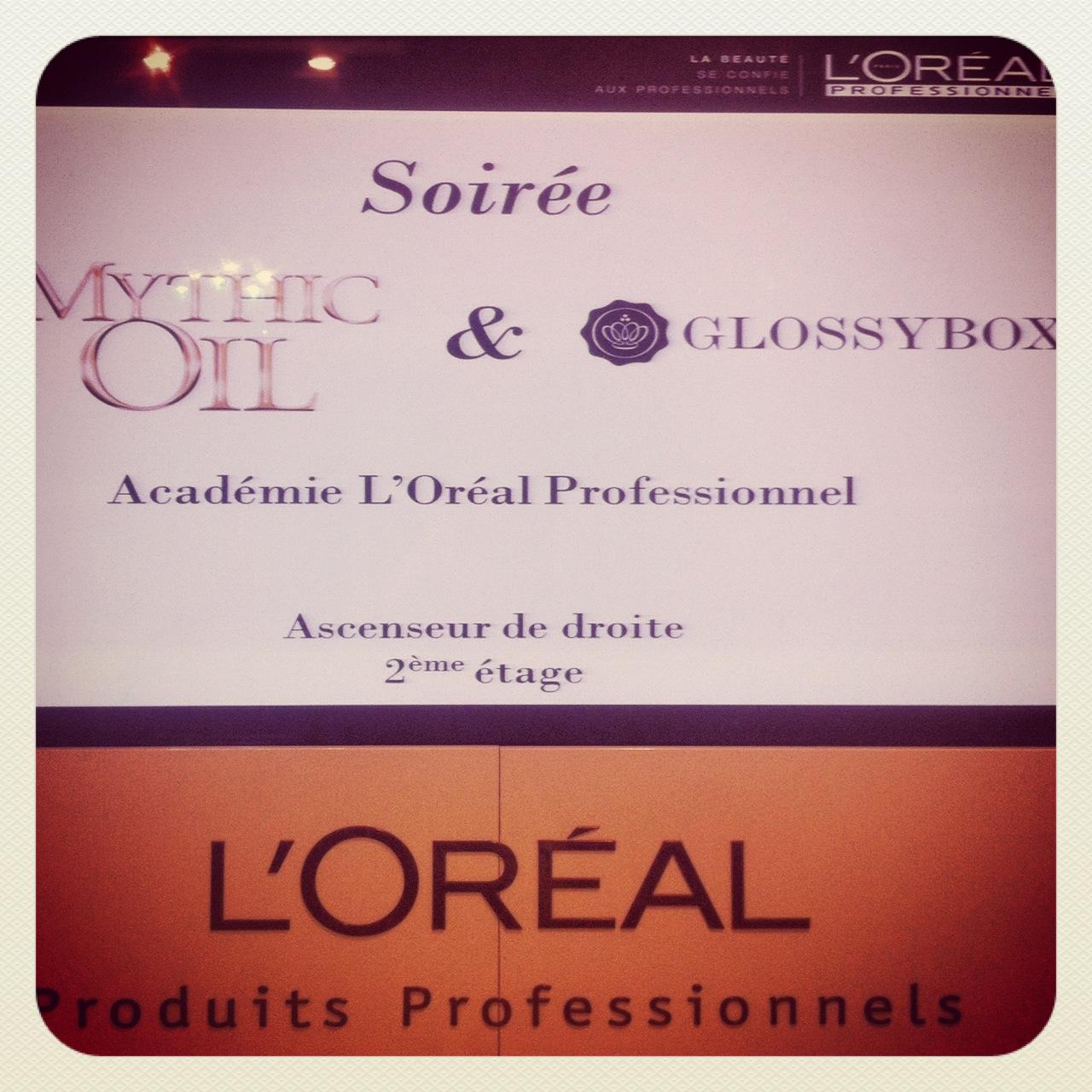 Ma soirée Mythic Oil par L'Oréal Professionnel et Glossy Box